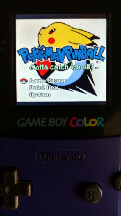 Game Boy Color LED Backlit LCD Module Working